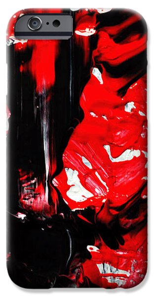 Sick Drawings iPhone Cases - The Girl With The Bloody Chainsaw  iPhone Case by Sir Josef Putsche