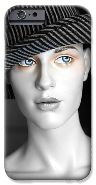 Virtual iPhone Cases - The Girl with the Fedora Hat iPhone Case by Sophie Vigneault