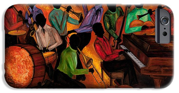 Negro Paintings iPhone Cases - The GitDown HoeDown iPhone Case by Larry Martin