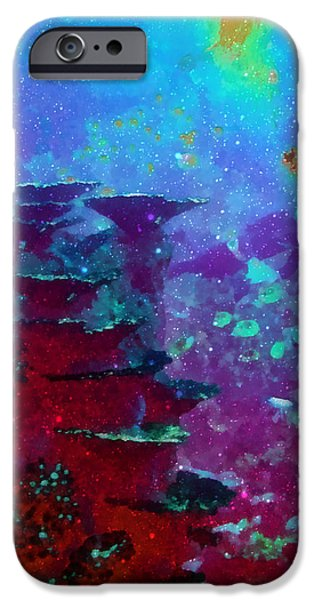 Calcium Carbonate iPhone Cases - The Glimmering Deep iPhone Case by Wendy J St Christopher