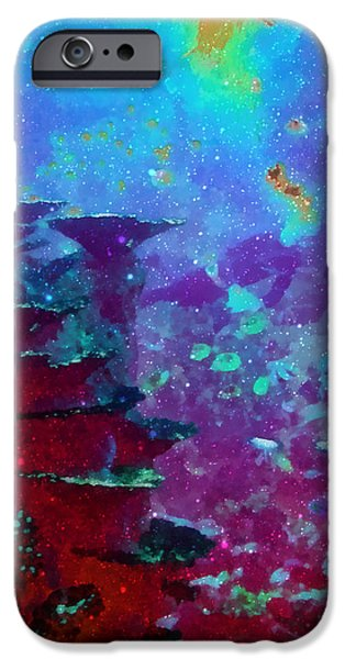 The Glimmering Deep iPhone Case by Wendy J St Christopher