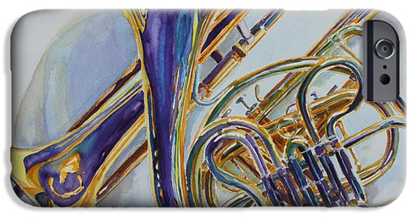 Trio iPhone Cases - The Glow of Brass iPhone Case by Jenny Armitage