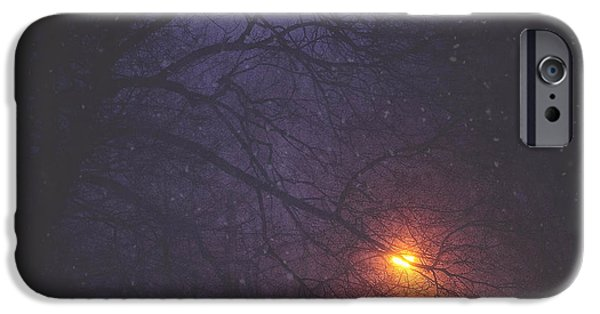 Snow iPhone Cases - The Glow Of Snow iPhone Case by Carrie Ann Grippo-Pike