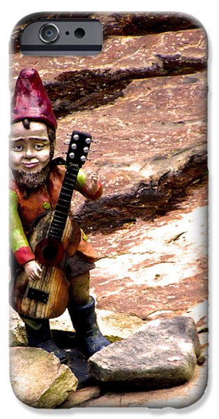 Ukelele iPhone Cases - The Gnome Song iPhone Case by Russell Clenney