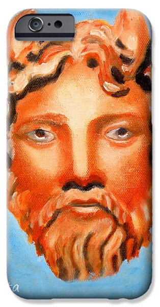 Larnaca iPhone Cases - The God Jupiter or Zeus.  iPhone Case by Augusta Stylianou