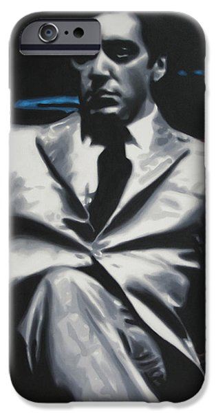 Francis Ford Coppola iPhone Cases - The Godfather 2013 iPhone Case by Luis Ludzska