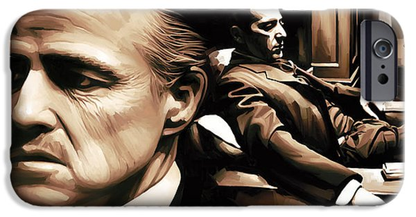 The Godfather iPhone Cases - The Godfather Artwork iPhone Case by Sheraz A