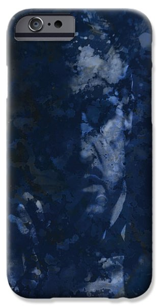 Francis Ford Coppola iPhone Cases - The Godfather Blue Splats iPhone Case by Brian Reaves