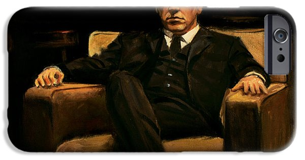 Al Pacino iPhone Cases - The Godfather iPhone Case by Christopher Panza