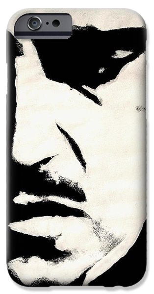 Black And White Art iPhone Cases - The Godfather iPhone Case by Dale Loos Jr