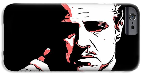 Francis Ford Coppola iPhone Cases - The Godfather iPhone Case by Dan Sproul
