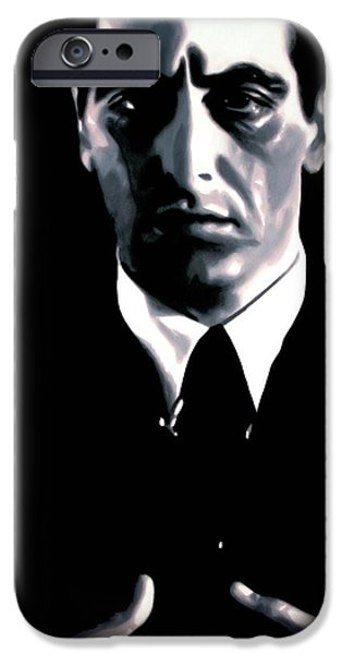 Tom Hagen iPhone Cases - The Godfather iPhone Case by Luis Ludzska