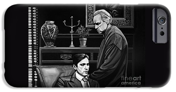Francis Ford Coppola iPhone Cases - The Godfather  iPhone Case by Paul Meijering