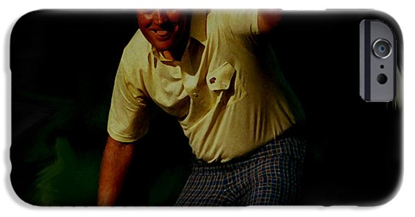 Us Open Mixed Media iPhone Cases - The Golden Bear iPhone Case by Brian Reaves