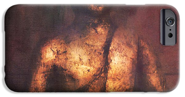 Buddhism Mixed Media iPhone Cases - The Golden Buddha iPhone Case by Angela Doelling AD DESIGN Photo and PhotoArt
