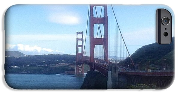 Sausalito Ca iPhone Cases - The Golden Gate Bridge iPhone Case by Christy Gendalia