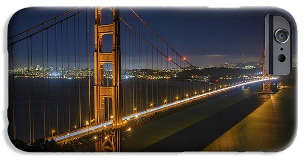 San Francisco Bay Bridge iPhone Cases - The Golden Gate Bridge iPhone Case by Rick Berk