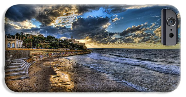 Israeli iPhone Cases - the golden hour during sunset at Israel iPhone Case by Ronsho