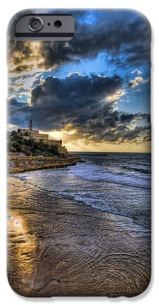 the golden hour during sunset at Israel iPhone Case by Ronsho