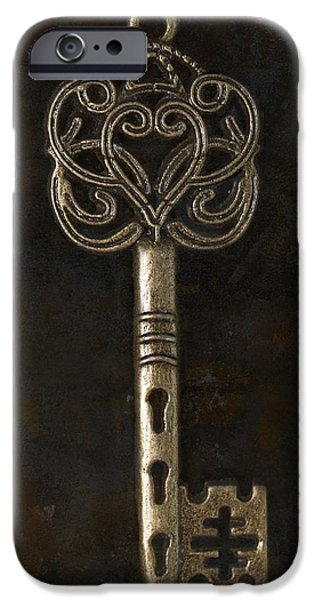 Baroness iPhone Cases - The Golden Key iPhone Case by Henny Gorin