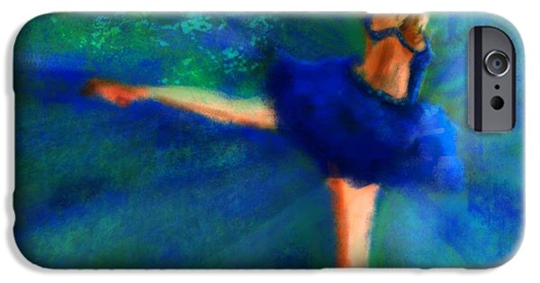 Ballerina Drawings iPhone Cases - The Golden Moment iPhone Case by Ori Bengal