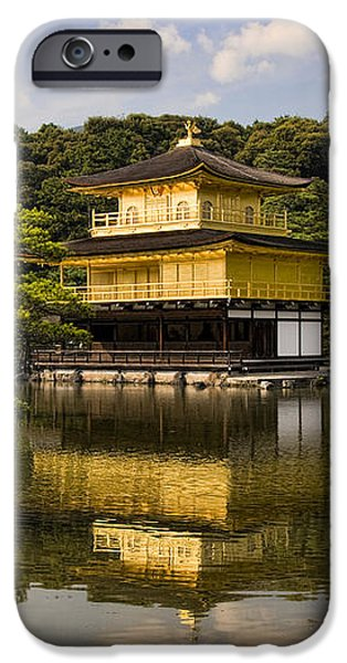 The Golden Pagoda in Kyoto Japan iPhone Case by David Smith