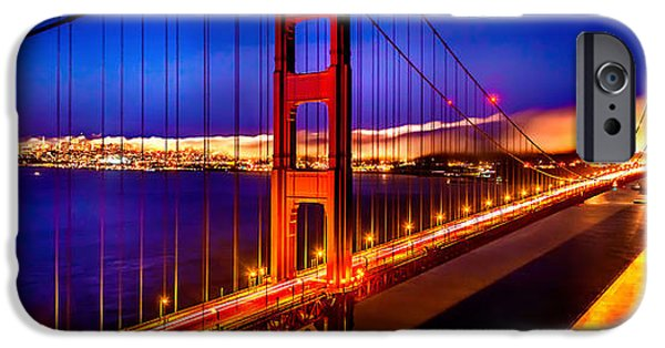 Golden Gate iPhone Cases - The Golden Path iPhone Case by Az Jackson