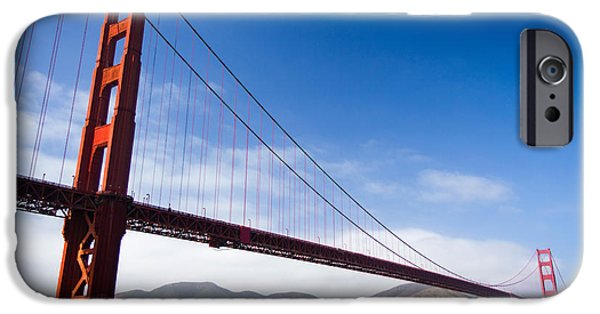 Sight Seeing San Francisco iPhone Cases - The Golden Towers iPhone Case by Hugh Stickney
