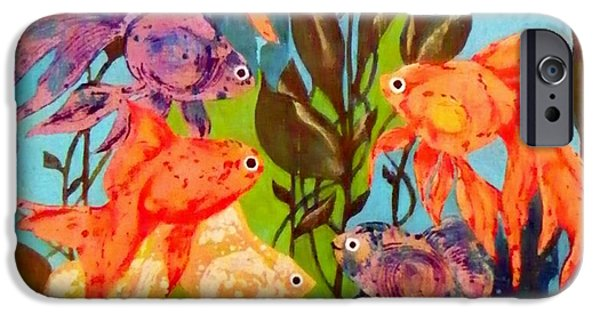 Boardroom Mixed Media iPhone Cases - The Goldfish Pond iPhone Case by David Raderstorf