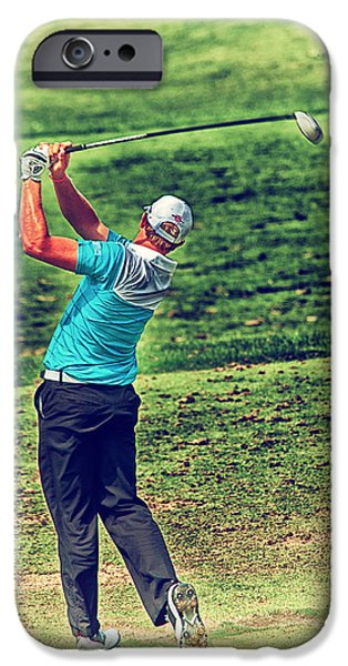 Professional Golf iPhone Cases - The Golf Swing iPhone Case by Karol  Livote