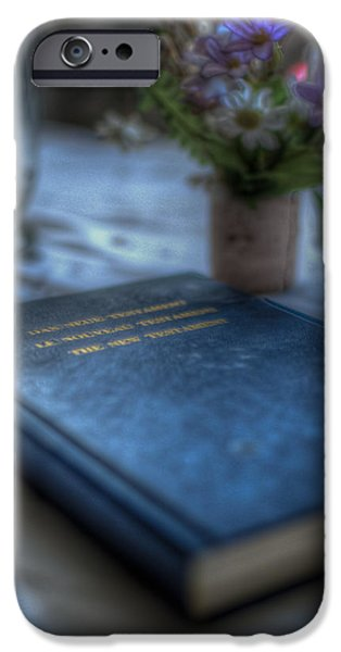 Haunted House Digital Art iPhone Cases - The good book iPhone Case by Nathan Wright