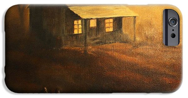 Cabin Window iPhone Cases - The Good Old Days iPhone Case by Hazel Holland