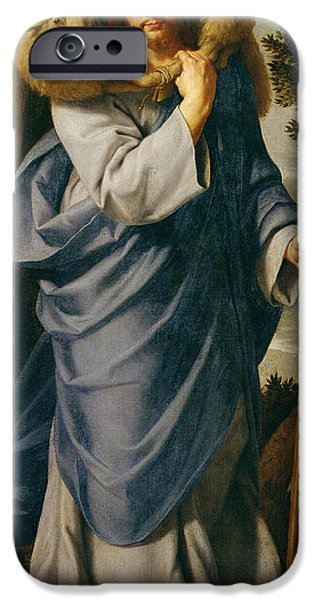 Jesus Photographs iPhone Cases - The Good Shepherd Oil On Canvas iPhone Case by Philippe de Champaigne