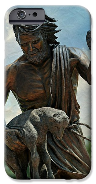 Saint Hope iPhone Cases - The Good Shepherd iPhone Case by Stephen Stookey