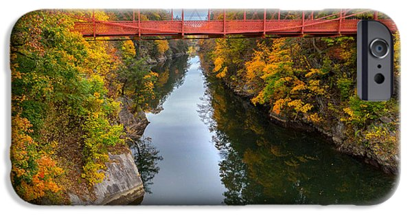 Litchfield County Landscape iPhone Cases - The Gorge Square iPhone Case by Bill  Wakeley