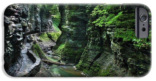Watkins Glen iPhone Cases - The Gorge Trail iPhone Case by Lori Deiter