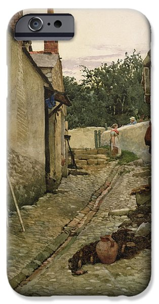 Net Paintings iPhone Cases - The Gossips iPhone Case by Walter Langley