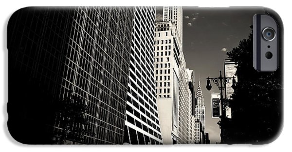 42nd Street iPhone Cases - The Grace Building and the Chrysler Building - New York City iPhone Case by Vivienne Gucwa