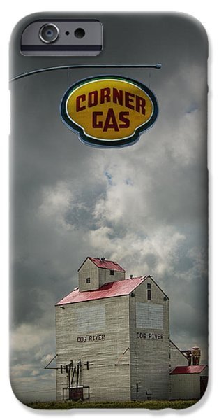 Canada Photograph iPhone Cases - The Grain Elevator from the Canadian TV Sitcom Corner Gas iPhone Case by Randall Nyhof