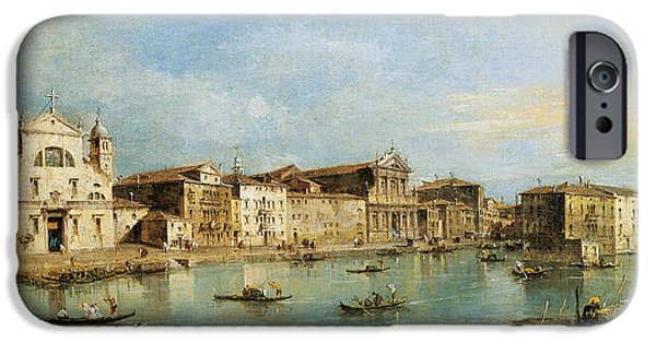 Art Of Building iPhone Cases - The Grand Canal iPhone Case by Francesco Guardi