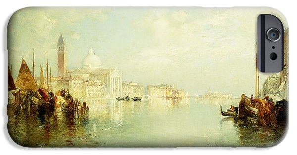 Moran iPhone Cases - The Grand Canal iPhone Case by Thomas Moran