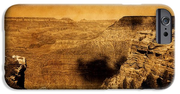 Grand Canyon Digital Art iPhone Cases - The Grand Canyon iPhone Case by Dan Sproul