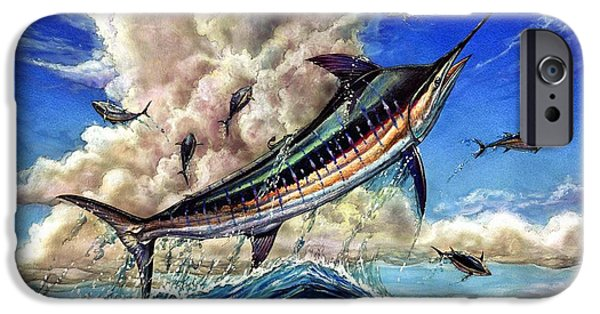 Marlin Azul iPhone Cases - The Grand Challenge  Marlin iPhone Case by Terry Fox