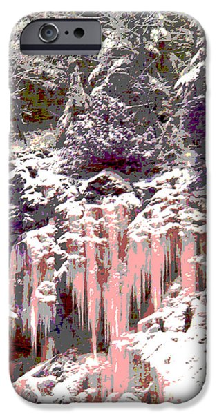 Wonderous iPhone Cases - The Grand Stillness Of Winter iPhone Case by Ann Johndro-Collins