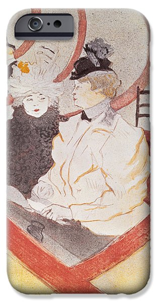 Balcony Photographs iPhone Cases - The Grande Loge, 1897 Litho See Also 15811 iPhone Case by Henri de Toulouse-Lautrec