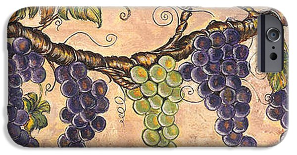 Concord Grapes iPhone Cases - The Grape Vine iPhone Case by Kathy-Lou