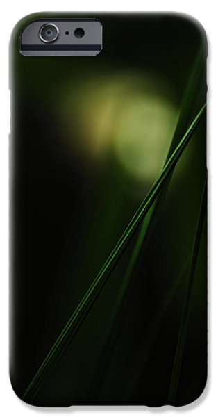Green Surreal Geometry iPhone Cases - The Grass is Greener iPhone Case by Rebecca Sherman