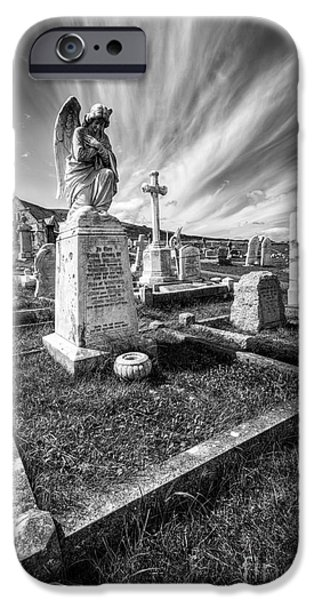 Grave Yard iPhone Cases - The Graveyard iPhone Case by Adrian Evans