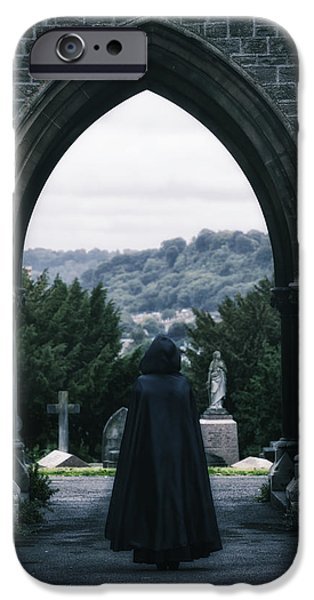 Eerie iPhone Cases - The Graveyard iPhone Case by Joana Kruse