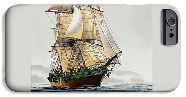 Tall Ship iPhone Cases - The Great Age of Sail iPhone Case by James Williamson